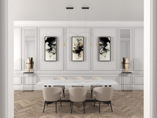 stylowe wnętrze, salon glamour, salon klasyczny, nowoczesne wnętrze, wnętrze z klimatem