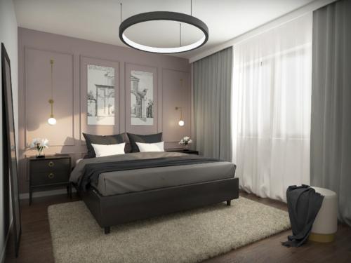 aranżacja nowoczesnej sypialnia z klasyczną nutą , salon glamour, piękno i nowoczesność, niepowtarzalny styl, projekt sypialni, wnętrze z klimatem