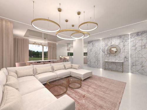 nowoczesny dom, aranżacja nowoczesnego domy, duży salon
