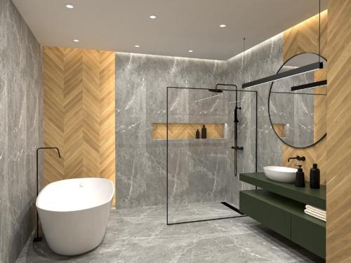 nowoczesna łazienka, atrakcyjna łazienka, styl skandynawski, wnętrze z klimatem